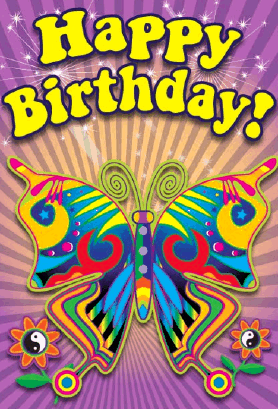 60 S Butterfly Birthday Card