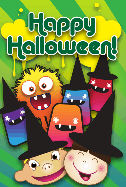 Kid Monster Party Card Greeting Card