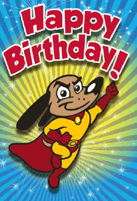 Persnickety image for free printable superhero birthday cards