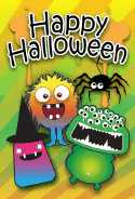 Many Eyed Halloween Monster Card