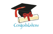 Graduation Card with Diploma and Mortarboard